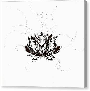 Lotus Canvas Print by Andrea Carroll
