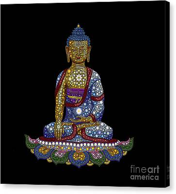 Lotus Buddha Canvas Print by Tim Gainey