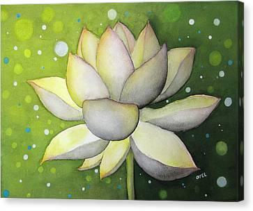 Lotus Dream Canvas Print by Oiyee At Oystudio