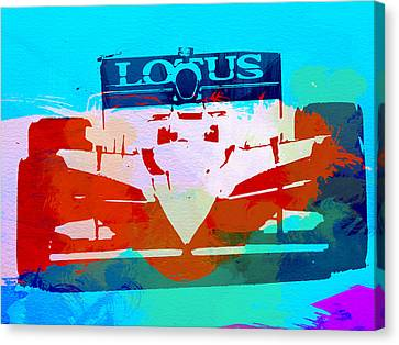 Lotus F1 Racing Canvas Print by Naxart Studio