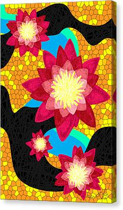 Lotus Flower Bombs In Magenta Canvas Print by Kenal Louis