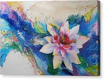 Lotus Flower Canvas Print by Christy  Freeman