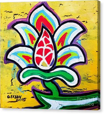 Lotus Flower Canvas Print by Genevieve Esson