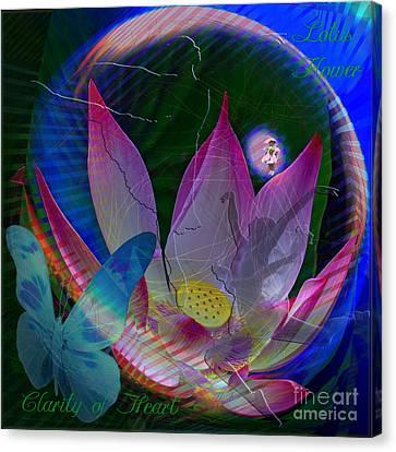 Lotus Flower Energy Canvas Print