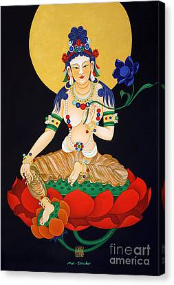 Lotus Guanyan Canvas Print