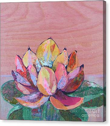 Pink Flower Canvas Print - Lotus I by Shadia Derbyshire