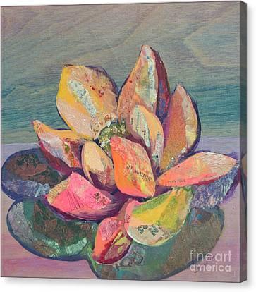 Blue Flowers Canvas Print - Lotus IIi by Shadia Derbyshire
