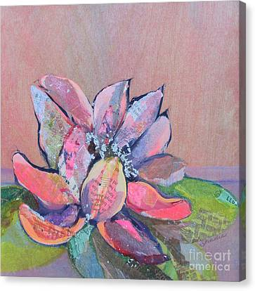 Lilies Canvas Print - Lotus Iv by Shadia Derbyshire