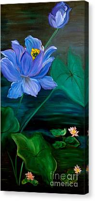 Lotus Canvas Print by Jenny Lee