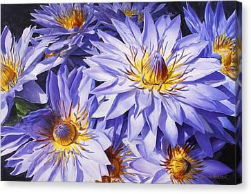 Lotus Light - Hawaiian Tropical Floral Canvas Print