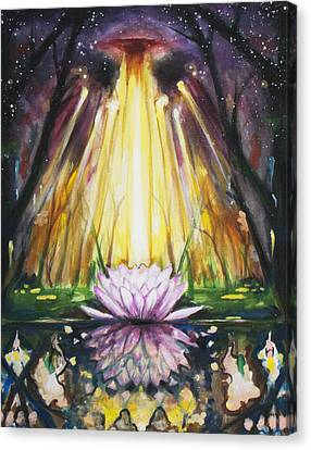 Lotus Omega Canvas Print by Christine  Webb