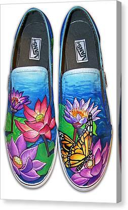 Lotus Shoes Canvas Print
