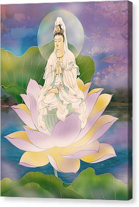 Lotus-sitting Avalokitesvara  Canvas Print by Lanjee Chee