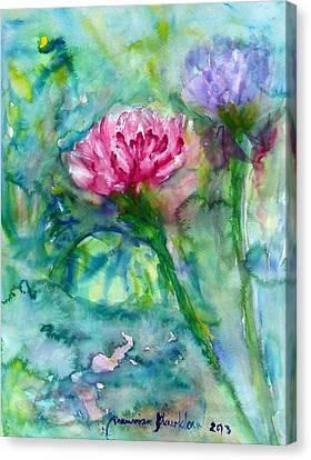 Lotus Canvas Print by Wanvisa Klawklean