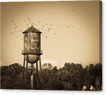 Loudon Water Tower Canvas Print by Melinda Fawver