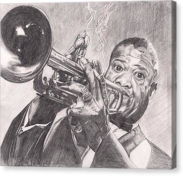 Louie Armstrong Canvas Print by Beverly Marshall
