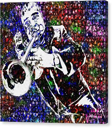 Louie Armstrong Canvas Print by Jack Zulli