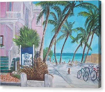 Louie's Backyard Canvas Print by Linda Cabrera