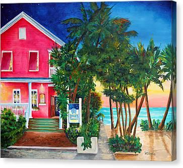 Louie's Backyard Canvas Print by Phyllis London