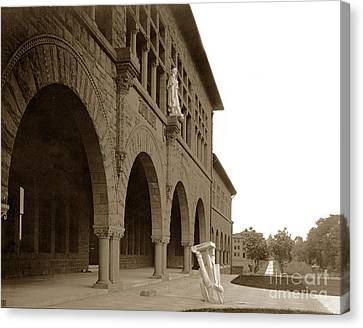 Louis Agassiz In The Concrete Most Famous Image Associated With Stanford University 1906 Earthquake Canvas Print by California Views Mr Pat Hathaway Archives