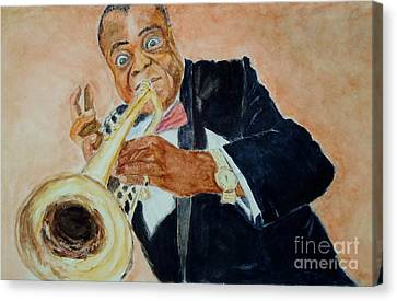 Louis Armstrong 1 Canvas Print by Katie Spicuzza