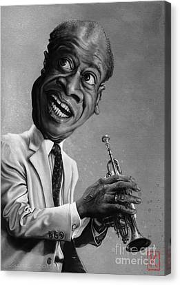 Louis Armstrong Canvas Print by Andre Koekemoer