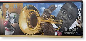 Louis Armstrong Canvas Print by Bob Christopher