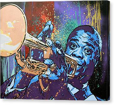 Louis Armstrong Canvas Print by Bobby Zeik