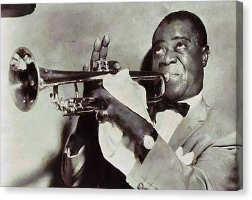 Louis Armstrong Canvas Print by Dan Sproul
