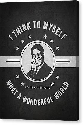 Louis Armstrong - Dark Canvas Print by Aged Pixel