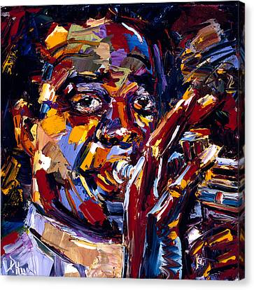 Louis Armstrong Canvas Print by Debra Hurd