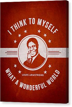 Louis Armstrong - Red Canvas Print