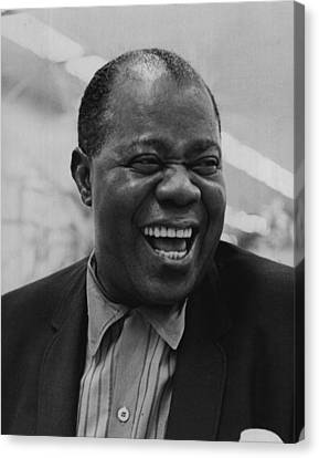 Louis Armstrong Smiles Broadly Canvas Print by Retro Images Archive