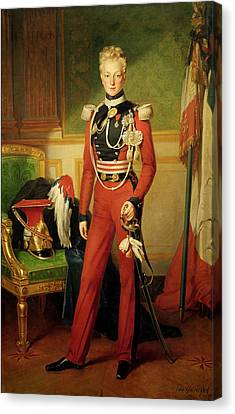 Louis-charles-philippe Of Orleans 1814-96 Duke Of Nemours, 1833 Oil On Canvas Canvas Print