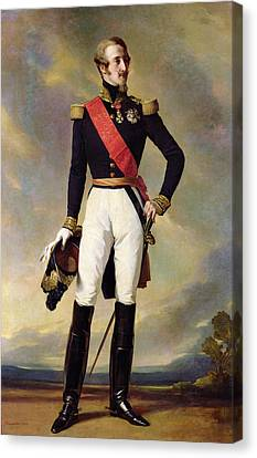 Louis-charles-philippe Of Orleans 1814-96 Duke Of Nemours, 1843 Oil On Canvas Canvas Print by Franz Xaver Winterhalter