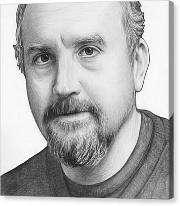 Louis Ck Portrait Canvas Print by Olga Shvartsur