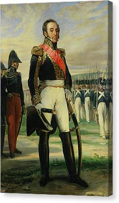Louis-gabriel Suchet 1770-1826 Duke Of Albufera And Marshal Of France  Oil On Canvas Canvas Print by Frederic Legrip