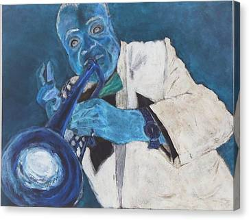 Louis In Blue Canvas Print by Katie Spicuzza