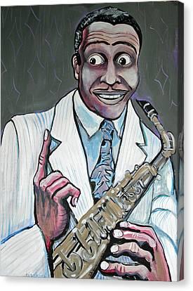 Louis Jordan Canvas Print by Stephen Karla