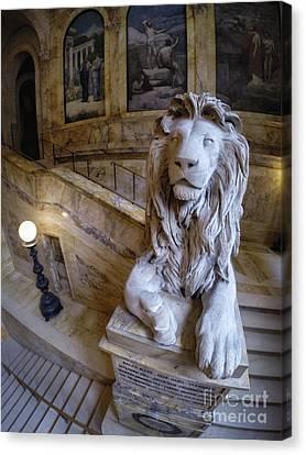 Louis St. Gaudens 20th Massachusetts Lions Boston Public Library Canvas Print by Scott Thorp