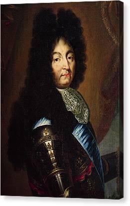 Cravat Canvas Print - Louis Xiv 1638-1715 Oil On Canvas by Hyacinthe Francois Rigaud