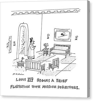 Louis Xiv Begins A Brief Flirtation With Mission Canvas Print