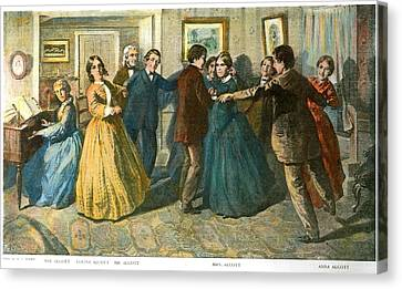 Louisa May Alcottand Her Family Canvas Print