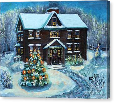Louisa May Alcott's Christmas Canvas Print by Rita Brown