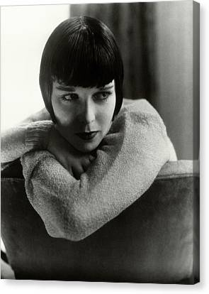 Louise Brooks On A Chair Canvas Print by Edward Steichen