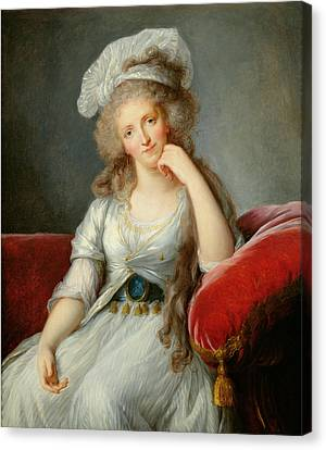 Louise-marie Adelaide, Duchesse Dorleans Oil On Canvas See Also 91622 Canvas Print by Elisabeth Louise Vigee-Lebrun