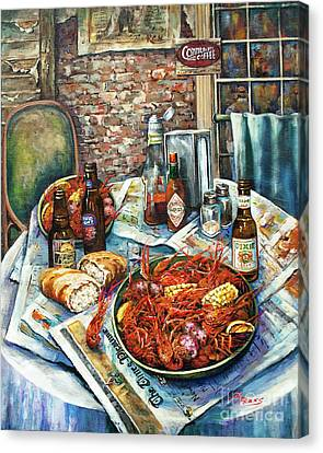 Food Canvas Print - Louisiana Saturday Night by Dianne Parks