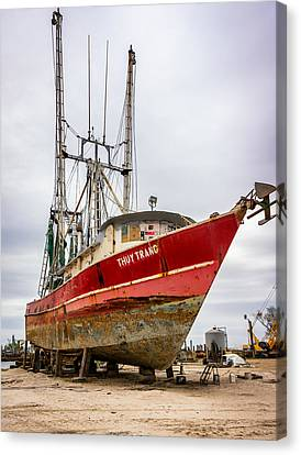 Louisiana Shrimp Boat 2 Canvas Print by Steve Harrington