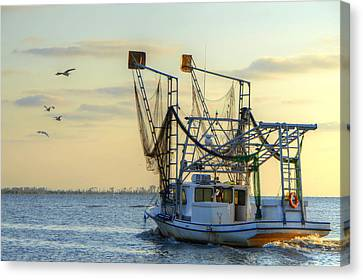 Louisiana Shrimping Canvas Print