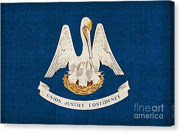Louisiana State Flag Canvas Print by Pixel Chimp